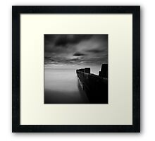 still water - drama on a british beach Framed Print