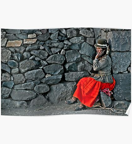 Peruvian Waiting Poster