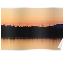 Wivenhoe Sunset Poster