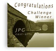 Congratulations Challenge Winner Sepia Canvas Print