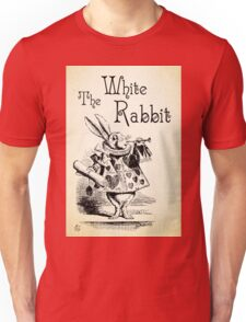 Alice in Wonderland -  The White Rabbit - Lewis Carroll Quote - 0194 Unisex T-Shirt