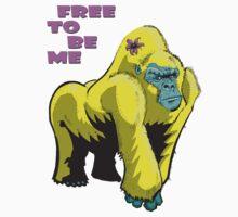 Free To Be Me Gorilla Kids Tee