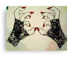 Heavy Metal Lover- Paws Up Snap Shot Canvas Print