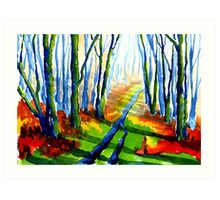 Autumn Walk, Derbyshire Art Print