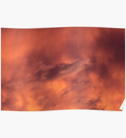 Sunset in Bushfire Smoke Poster