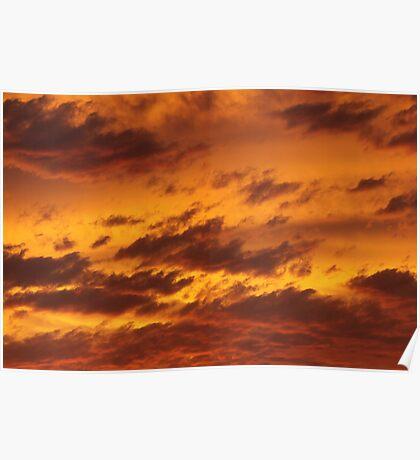Sunset in Bushfire Smoke - 2 Poster