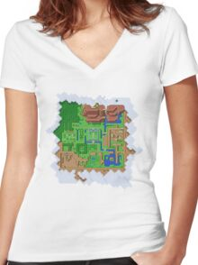 Realms of Hyrule Women's Fitted V-Neck T-Shirt