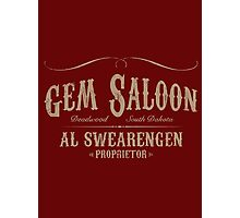 Gem Saloon vintage Photographic Print