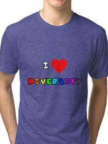 I Heart Diversity Tri-blend T-Shirt