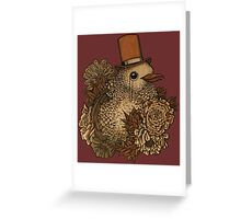 A Very Dapper Bird Greeting Card