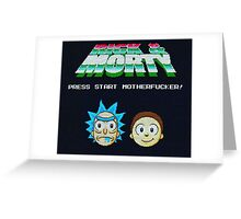 Rick and Morty Game Greeting Card