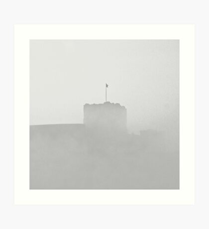 Still flying the flag against the weather. Art Print