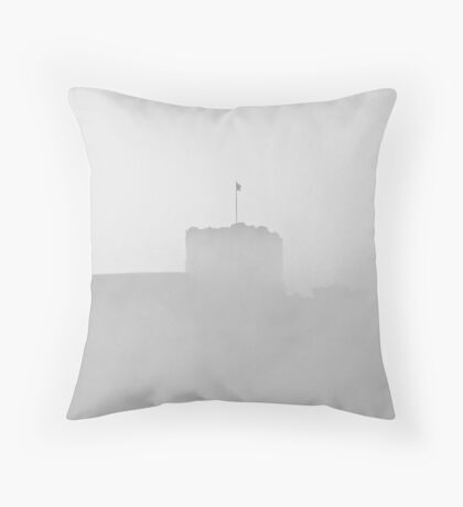 Still flying the flag against the weather. Throw Pillow