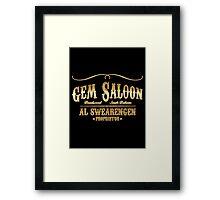 Gem Saloon vintage Framed Print