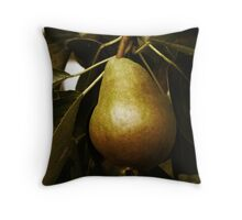 Not Yet Done - Pear Throw Pillow