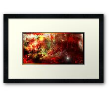 Triangle of nuclear data vision 666 Framed Print
