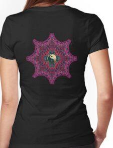 Goa for Gold Yin Yang Mandala Womens Fitted T-Shirt