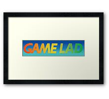 Gamelad- with back Framed Print