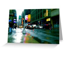 NY in the rain Greeting Card