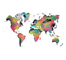 World map 4 Photographic Print