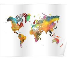 world map 3 Poster