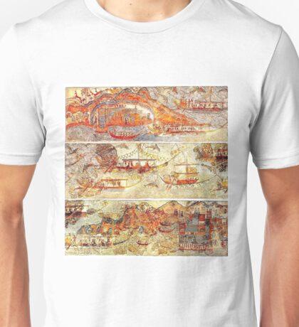 Minoan Miniature Frieze Admirals Flotilla Fresco Art Unisex T-Shirt