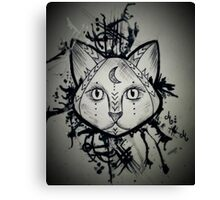 Splashy the Cat Canvas Print