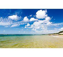 Plage de la Corniche Photographic Print