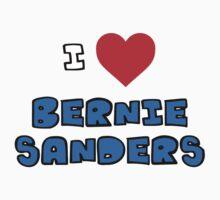 I Heart Bernie Sanders Baby Tee