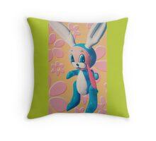 Rubber Rabbit  Throw Pillow