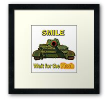 Smile... Wait for the Flash Framed Print