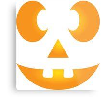 Funny Halloween Jack-O-Lantern Face Metal Print