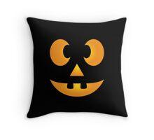Funny Halloween Jack-O-Lantern Face Throw Pillow