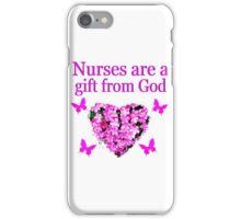 PRETTY PINK FLOWER NURSING DESIGN iPhone Case/Skin