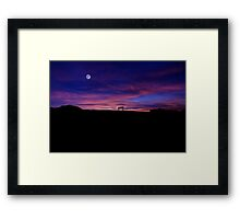 The bench of Zabriskie Point Framed Print