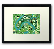 seamless map of paris Framed Print