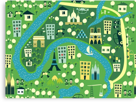 seamless map of paris by Anastasiia Kucherenko
