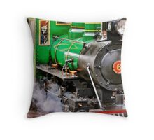 Train whistle playing.. Throw Pillow