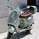 Pistachio Vespa in Sunshine by Victoria Ellis