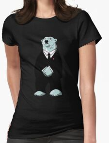Be Cool Polar Bear. Womens Fitted T-Shirt