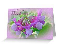 Thank You Card Beach Pea Wildflower Greeting Card