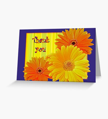 Thank You Card Gerbera Daisies Greeting Card