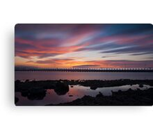 Amble Sunset Canvas Print
