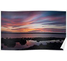 Amble Sunset Poster