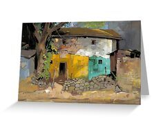 Village House 1 Greeting Card