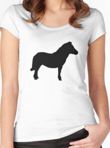 Shetland Miniature Pony Women's Fitted Scoop T-Shirt