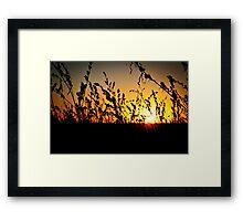 High Plains Sunset Framed Print