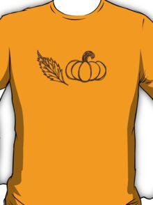 Autumn Pumpkin Sketch T-Shirt