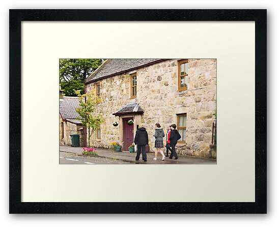 From School to Home for Lunch - Aberlour, Moray, Scotland by Yannik Hay