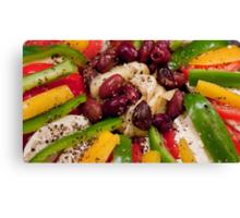 Mozzarella, Peppers, And Kalamata Antipasto Canvas Print